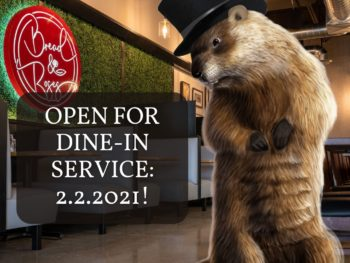 Bread & Roses Opens Indoor Service February 2nd, 2021